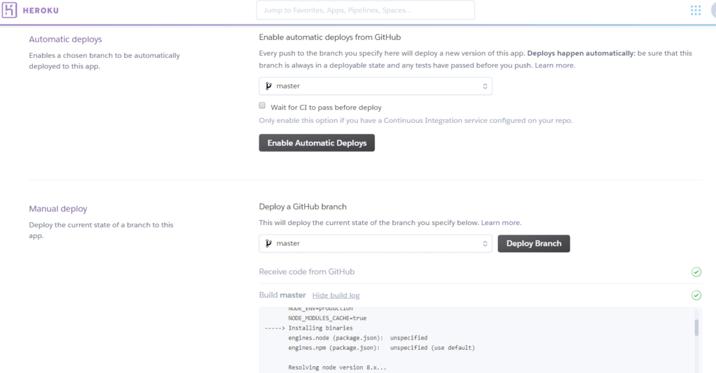 Deploying React Node TypeScript App On Heroku with Github